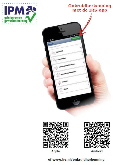 Onkruidherkenning met de IRS-app