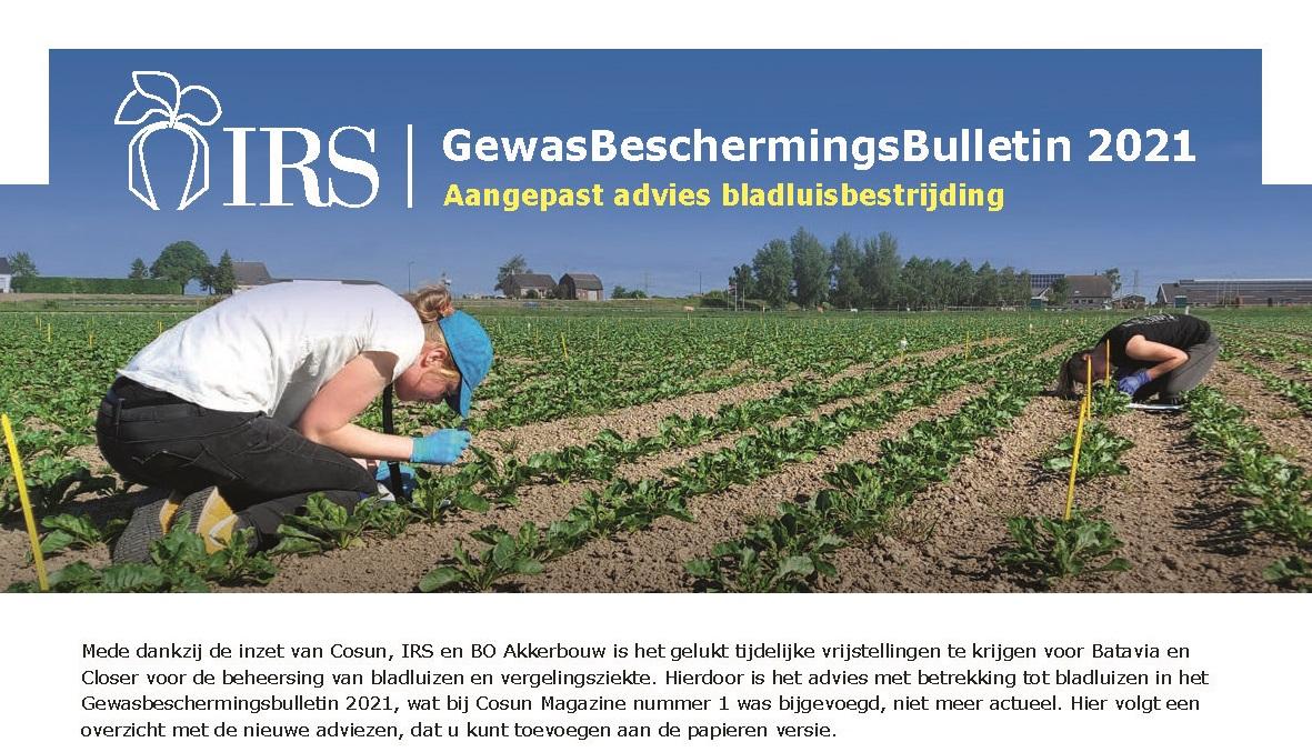 Flyer: GewasBeschermingsBulletin 2021 – Aangepast advies bladluisbestrijding