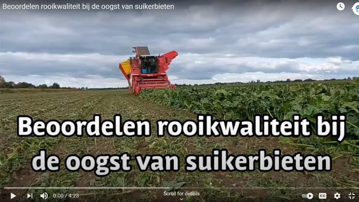 Video 'Beoordelen rooikwaliteit bij de oogst van suikerbieten'